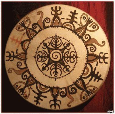 Как сделать и ожививить шаманской бубен Изготовление бубна своими руками
