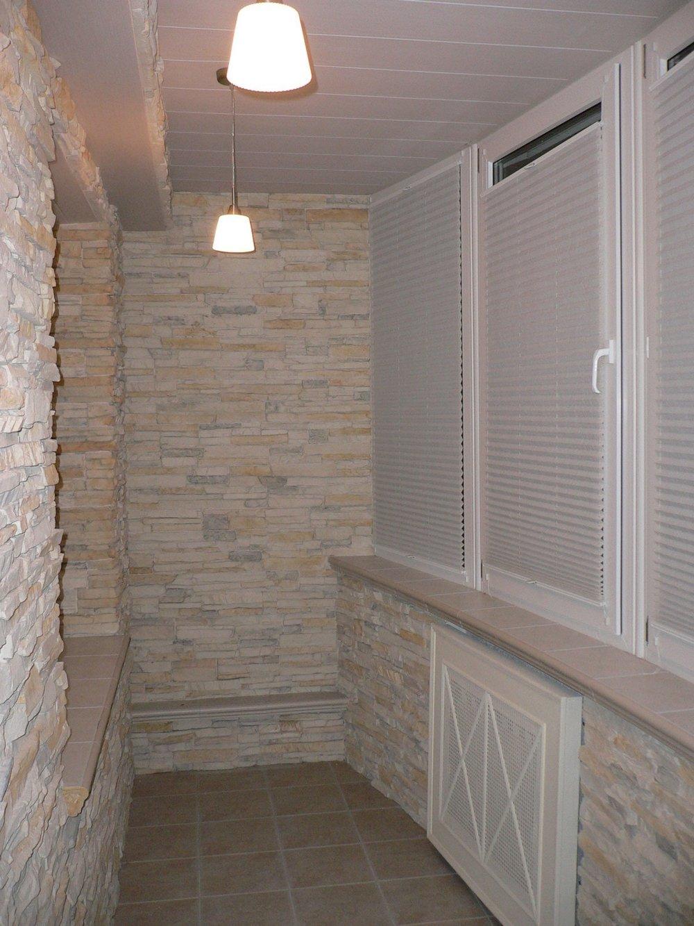 Fertigstellung der Wände der Loggia-Materialien ...