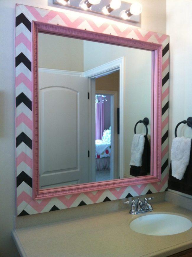 Зеркало в ванной своими руками 24