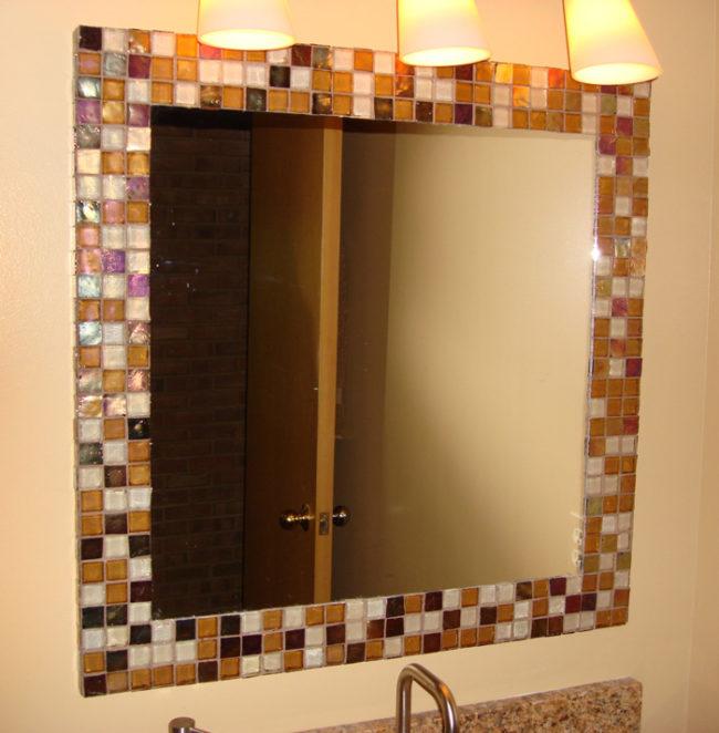 Зеркала в ванную комнату своими руками