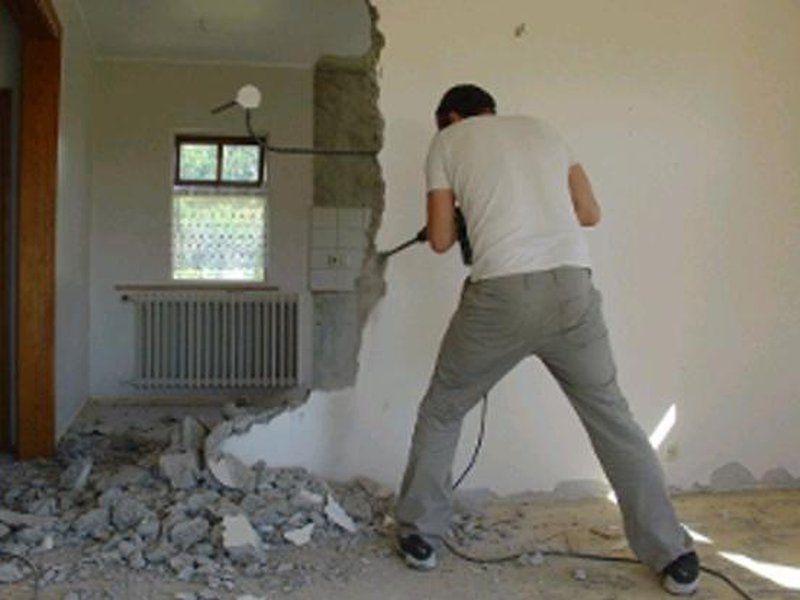 Abbruch Von Wänden In Plattenhäusern