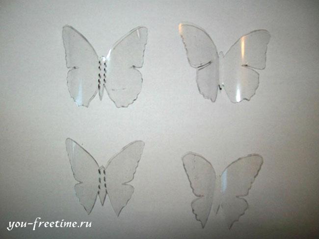 Ein funkelnder Schmetterling aus einer Plastikflasche ...
