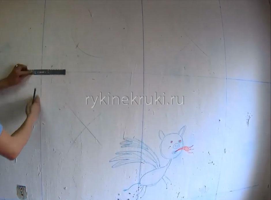 Montage des Profils an der Wand horizontal. Regeln zur Befestigung ...