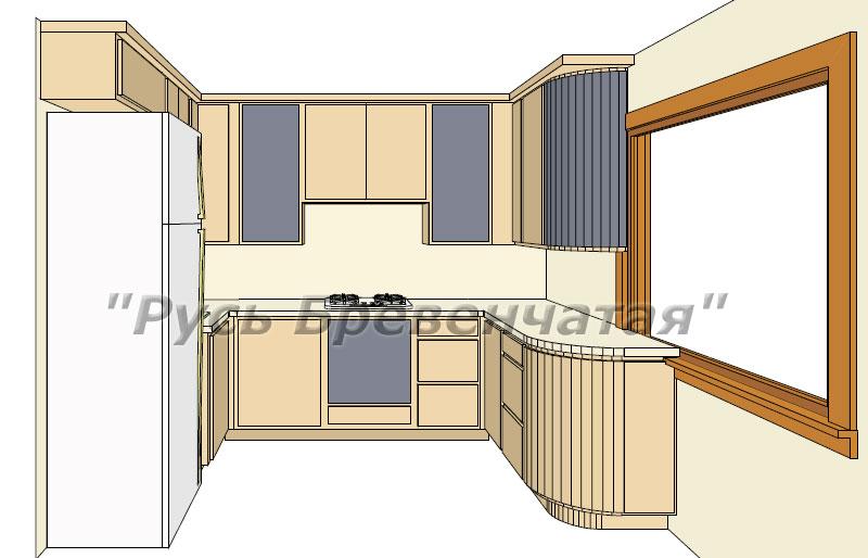 Wie man den Kücheninnenraum in einem Blockhaus ausstattet ...