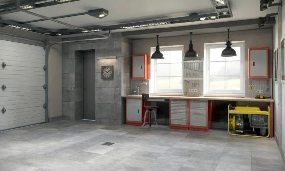 Garage Layout Innen   Foto Von Innen: